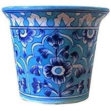 """Aurea Blue Pottery Table Top / Window Planter or Flower Pot 5"""""""
