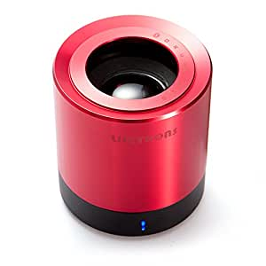 NEW Lifetrons DrumBass III XL Mini Bluetooth Speaker, Deluxe Wireless Red Edition