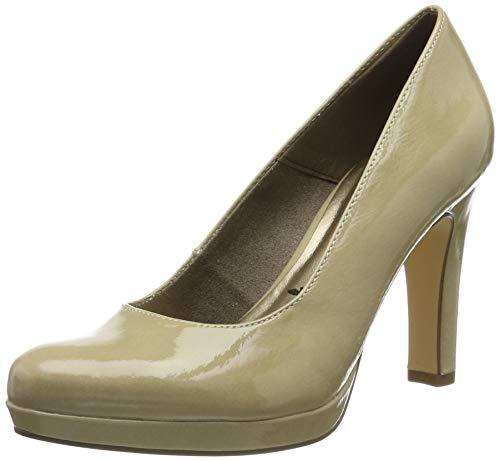 Tamaris 1-1-22426-23, Zapatos con Plataforma para Mujer, Beige Cream Patent 430, 38 EU