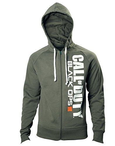 Preisvergleich Produktbild Call of Duty Black Ops 3 Hoodie -XL- Logo,  grün
