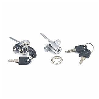 Juego de cerradura + 2 llaves para muebles con cajones, disponible en 1, 2 o 5 unidades