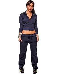 CHICK REBELLE - Pantalon de sport -  - Relaxed - Uni - Manches longues Femme -  Bleu - Dunkelblau - L