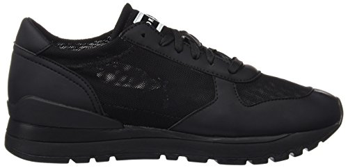 DKNY Damen Jamie Stretch Lace Up Runner Sneaker Schwarz
