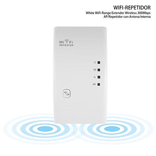 CIMIVA-WR01 Enrutador Inalámbrico Extensor de Red Wifi Repetidor Amplificador Wifi 1 Banda EU Enchufe (300Mbps, Color Blanco)