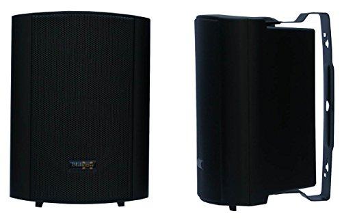 """E-Lektron EWL4P stereo passiv Lautsprecher Paar inkl. Wandhalter für innen und außen - 4"""" 100W - Schwarz"""