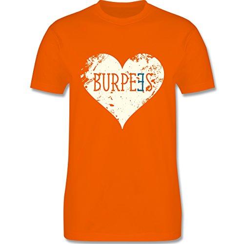 CrossFit & Workout - Burpees Herz - Herren Premium T-Shirt Orange