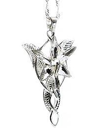 19ad5e86fe2 Beaux Bijoux LOTR Lord of The Rings Hobbit Arwen L Étoile du Soir Teinte  Argenté Collier Pendentif Cristal Hélice…