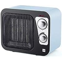 Heater Calentador Retro Cuadrado con 3 Modos Ajustable, Mini Calentador de Escritorio portátil Calefactor de