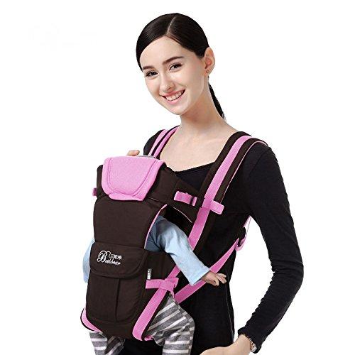 Bethbear Adjustable 4 Positions Carrier 3D Backpack Pouch Bag Wrap Soft Structured Ergonomic Sling Front Back Newborn Baby Infant (Pink)