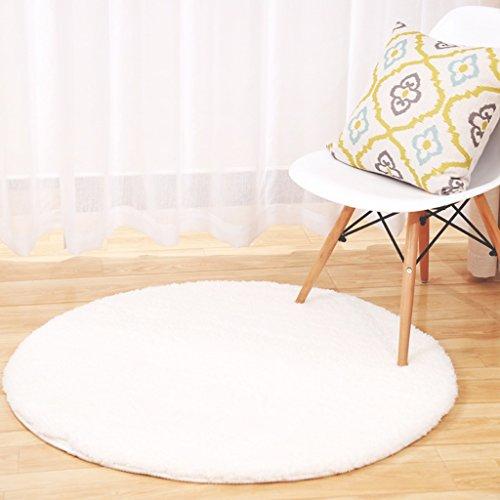 Rotonda tappeto yoga di forma fisica della coperta carrello Computer Chair Mats divano lato del letto coperta Soggiorno Camera da letto antiscivolo Mat la porta Tappetini Sala Carpet rilievo del piede ( colore : H. , dimensioni : D120CM )