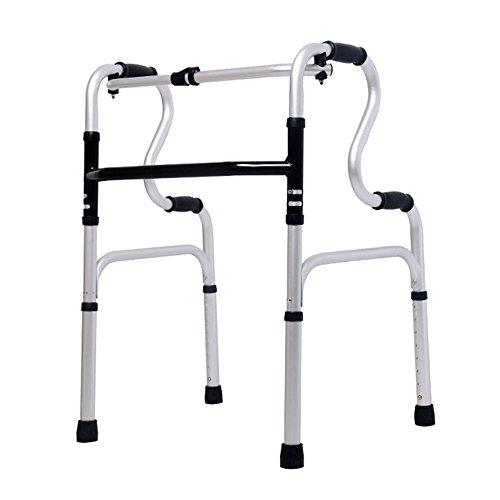 XIHAA Ältere Menschen Walker Höhenverstellbar Klapp Aluminiumlegierung Flaschenzug Behinderte Person Walking Rehabilitation Ausrüstung Bad Bad Stuhl (Ohne Rad) (Drive 4-rad Medical-rollator)