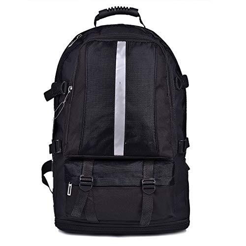 41IA63RexxL. SS500  - CGQMen's Large-Capacity Backpack Outdoor Travel Bag Waterproof Nylon Backpack