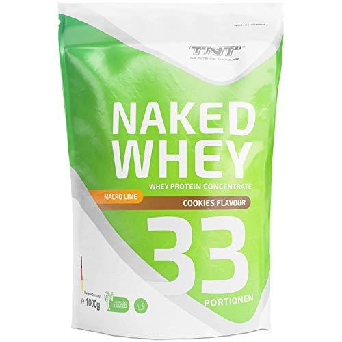 Whey Protein Pulver - Eiweißpulver aus Molke - Proteinpulver mit Laktase - Eiweiß-Shake / 1kg COOKIES - Designer Whey Protein Mit Wasser