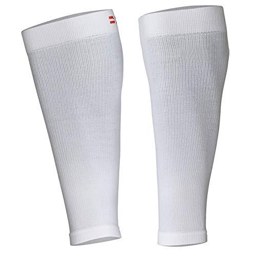 DANISH ENDURANCE Waden-Kompressionsstrümpfe ohne Fuß (Einfarbig Weiß, M)