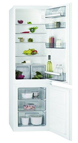 AEG SCB51821LS Einbau Kühl-Gefrier-Kombination mit Gefrierteil unten / 196 l Kühlschrank / 72 l Gefrierschrank / großer Einbaukühlschrank mit Glasablagen / LowFrost / A++ / Einbau-Höhe: 178 cm / weiß