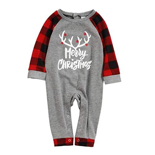 Weihnachten Familie passenden gestreiften Pyjama Set Outfits Nachtwäsche Elch gedruckt Oansatz für Kleinkind Kinder Mama Papa Frohe Weihnachten