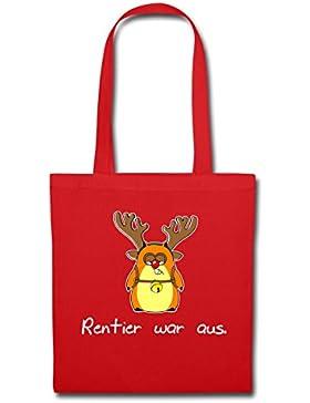 Weihnachten Lustiger Hamster Rentier War Aus Stoffbeutel von Spreadshirt®
