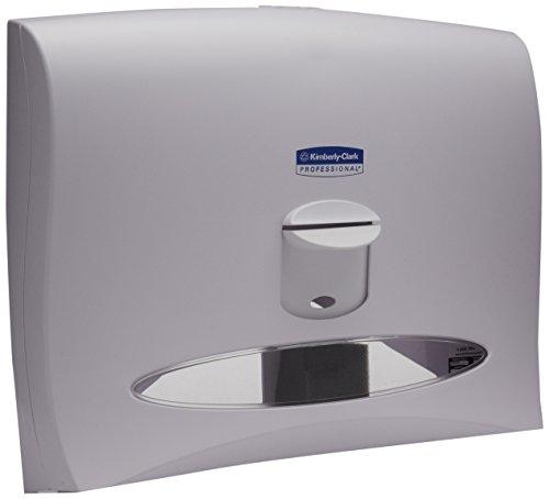 WINDOWS Toilet Seat Cover Dispenser, 17 1/2 x 3 1/4 x 13 1/4, White Pearl, Sold as 1 Each