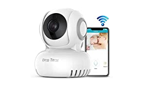 Camara WiFi IP HD P2P con Micrófono y Altavoz, Visión Nocturna, Detección de Movimiento, Seguridad para Bebé/Mascotas, Transmisión inalámbrica 100M Inglés Español APP