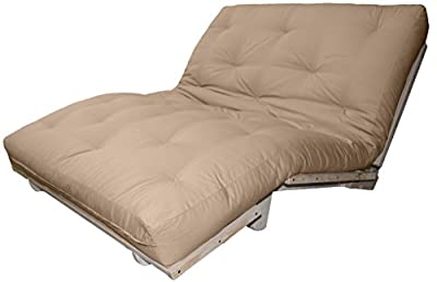 Epic Furnishings Better Fit Machine Washable Upholstery Grade Futon Cover, Twin-size 6 to 8-inch loft, Twill Khaki