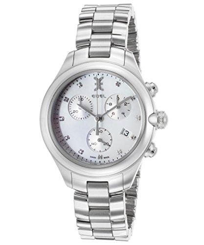 Ebel Damen-Armbanduhr 36mm Armband Edelstahl + Gehäuse Schweizer Quarz 1216177 - Damen Diamanten Uhren Ebel
