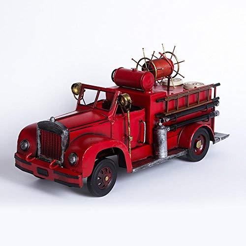 Ludage Wohnaccessoires Handwerk, Retro-Feuer LKW Auto Ornamente Bar Cafe Ornament 41,5 * 16,5 * 20 cm (Feuer Lkw Auto)