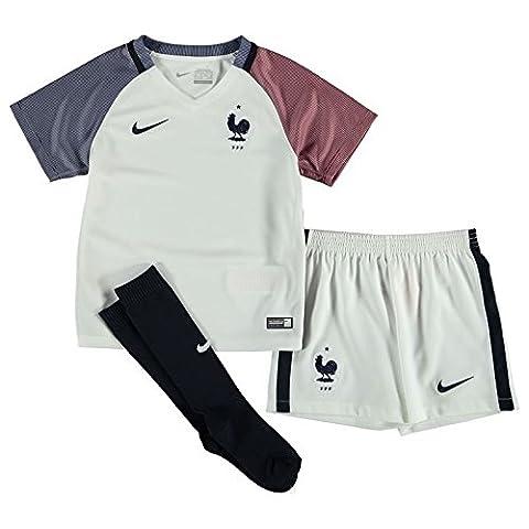 Nike FFF Lk AW Kit–Ensemble complet officiel XS blanc/bleu