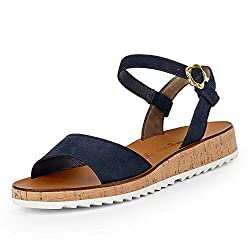 Paul Green 7161 Damen Sandalen Blau, EU 40,5