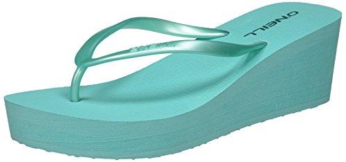 Damen Wedge Flip Flop (O'Neill Damen FW Wedge Flipflop Zehentrenner, Grün (Turquoise), 37 EU)