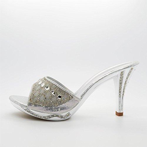 London Footwear , Ouvertes à larrière femme Argent