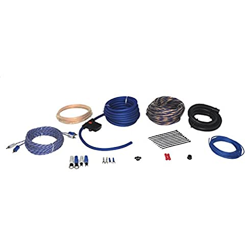 Power Acoustik AKIT-4 Amplifier Wire Kit with 4 Gauge 17ft and 3 ft Power Wires, 25 ft Speaker Wire, 17ft RCA and Turn-On Wire, 60A MAXI Fuse & Holder