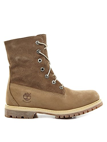 Timberland Auth Teddy Fleece Wp, Boots femme Olive