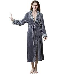 para Mujer para Mujer de Lujo cálido Suave Polar vellón Bata Bata de baño Bata de