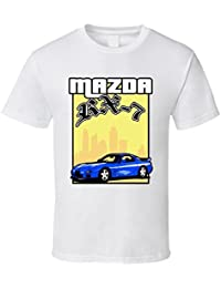Blue 2001 Mazda RX-7 Cool Grand Theft Auto Car T Shirt XXXX-L