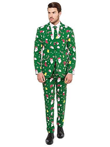 OppoSuits Weihnachtsanzüge für Herren - besteht aus Sakko, Hose und Krawatte,  Winter Wonderland, EU 60