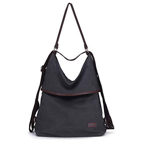 KOREY Bolsos Mujer,Mochila Casual de Lona, Personalidad de Moda Bolsa,Vintage Bolso Hombro Grandes,Bolso Shopper,Messenger Bag