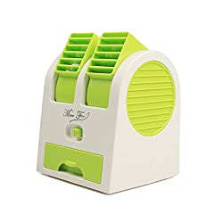 Deal-Kart Mini Fragrance Air conditioner Cooling Fan Pista(H91q) (GREEN)