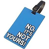 Placa de viaje-TOOGOO (R) equipaje Maletín Tag ID titular dirección etiqueta identificador silicona para el equipaje etiqueta para bolsa Maletín (blu)