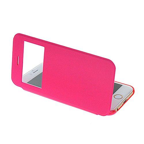 MOONCASE Etui Housse Cuir Portefeuille Case Cover Pour Apple IPhone 6 Noir HotRose 02