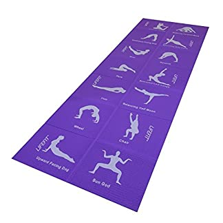 LIFEFIT Mat Fold–Esterilla de Yoga Plegable, Lila, 173x 61x 0.4cm