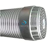 OICOTA Flexible Aluminium Chimney Duct Pipe Expended Upto 10 ft with Cowl Cover (6 INCH)