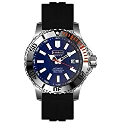 BARBOS MARINE BLUE AUTOMATIC WATCH 3300ft / 1000m / 100 ATM MENS DIVER WATCH-NEW