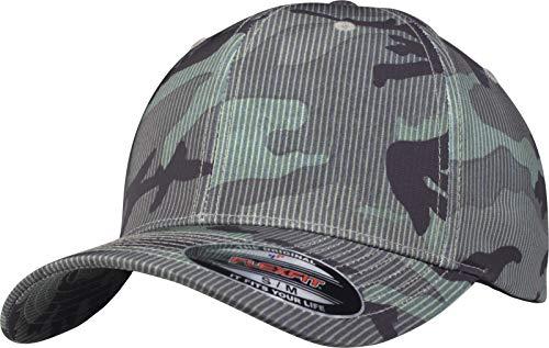 Flexfit Camo Stripe Cap, Green, L/XL - Visor Stripe Cap