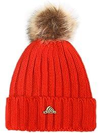 145ab2c064d7e7 LONGCLASS gestrickte Damen Bommelmütze BOMBOLEO sehr angenehm weich zu  tragen fein verarbeitete warme Wintermütze mit Bommel für…