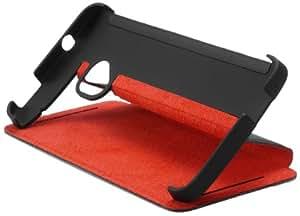 HTC 99H11325-00 Dual Sim Flip Schutzhülle für One schwarz