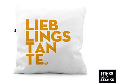 Kissen Lieblingstante Tante Liebling KS167 (40 x 40 cm)