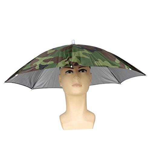 Faltbare Sonnenschirm Regenschirm Hut Regenhut Sonnenhut Sport Angeln Camping Mütze Kopfbedeckung Farbe zufällig (Camouflage)