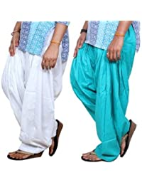 ROOLIUMS ® (Brand Factory Outlet) Punjabi Patiala Salwar Pack -2 Free size (White, Sky blue)