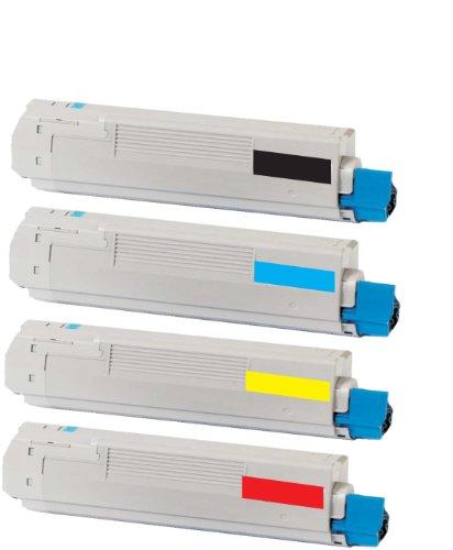 Preisvergleich Produktbild merotoner 4 x XXL Toner SET Kompatibel zu OKI C-8600 , C8600 , C-8600N , C8600 N , C-8600DN , C8600 DN/DTN/CDTN , C-8800 , C8800 , C-8800N , C8800 N , C-8800DN , C8800 DN/DTN/CDTN kompatibel