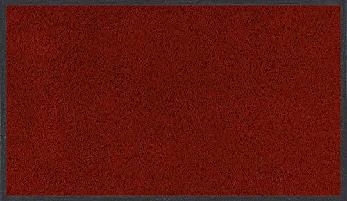 wash+dry Fußmatte Rubinrot 75x120 cm